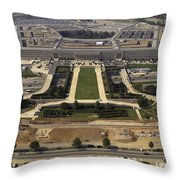 Aerial Photograph Of The Pentagon Throw Pillow by Stocktrek Images