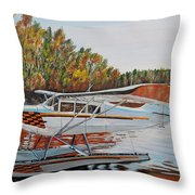 Aeronca Super Chief 0290 Throw Pillow by Marilyn  McNish