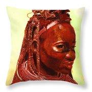 African Beauty Throw Pillow by Enzie Shahmiri