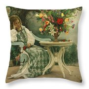 After The Masquerade Throw Pillow by Greg Olsen