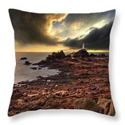 after the storm at La Corbiere Throw Pillow by Meirion Matthias