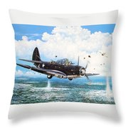 Against The Odds Throw Pillow by Marc Stewart