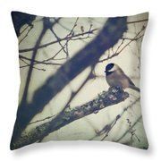 Against The Wind Throw Pillow by Amy Tyler