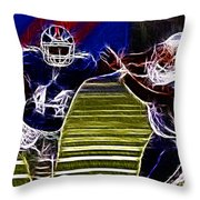 Ahmad Bradshaw Throw Pillow by Paul Ward