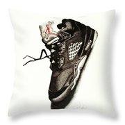 Air Jordan Throw Pillow by Robert Morin