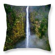 Akaka Falls Throw Pillow by Christopher Holmes