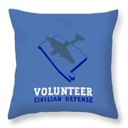 Alabama Civilian Defense - Wpa Throw Pillow by War Is Hell Store