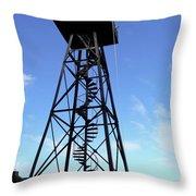 Alcatraz Guard Tower - San Francisco Throw Pillow by Daniel Hagerman