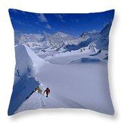 Alex Lowe On Mount Bearskin 2850 M Throw Pillow by Gordon Wiltsie