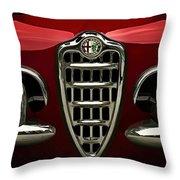 Alfa Red Throw Pillow by Douglas Pittman