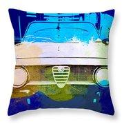 Alfa Romeo Watercolor Throw Pillow by Naxart Studio