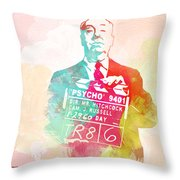 Alfred Hitchcock Throw Pillow by Naxart Studio