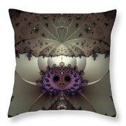 Alien Exotica Throw Pillow by Casey Kotas