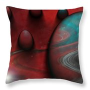Alien Nation Throw Pillow by Linda Sannuti