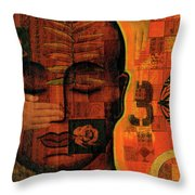 All Seeing Throw Pillow by Gloria Rothrock