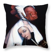 Allegory of Fishing Throw Pillow by Patrick Anthony Pierson