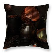 Allegory of the Four Elements Throw Pillow by Cornelis Jacobsz Delff