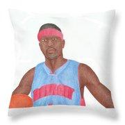 Allen Iverson Throw Pillow by Toni Jaso