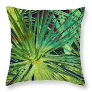 Aloe Vera Plant Throw Pillow by Susanne Van Hulst