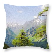 Alpine Altitude Throw Pillow by Jeff Kolker