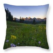 Alpine Dawn Throw Pillow by Mike  Dawson