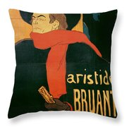 Ambassadeurs Throw Pillow by Henri de Toulouse-Lautrec