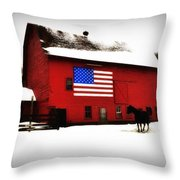 American Barn Throw Pillow by Bill Cannon