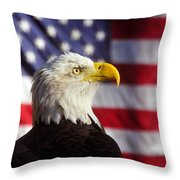 American Eagle Throw Pillow by David Lee Thompson