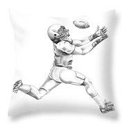 American Football Throw Pillow by Murphy Elliott