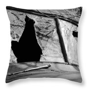 American Outlaw Throw Pillow by Luke Moore