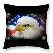 American Pride Throw Pillow by Shane Bechler