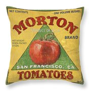 American Veggies 2 Throw Pillow by Debbie DeWitt