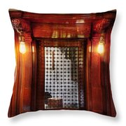 Americana - Movies - Ticket Counter Throw Pillow by Mike Savad
