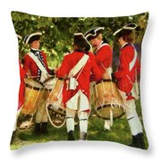 Americana - People - Preparing For Battle Throw Pillow by Mike Savad