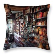 Americana - Store - Corner Grocer  Throw Pillow by Mike Savad