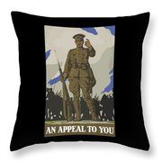 An Appeal To You Throw Pillow by War Is Hell Store