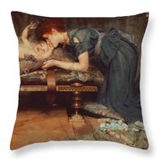 An Earthly Paradise Throw Pillow by Sir Lawrence Alma-Tadema