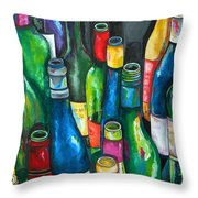 An Evening With Friends Throw Pillow by Patti Schermerhorn