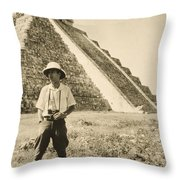 An Informal Portrait Of Photographer Throw Pillow by Luis Marden