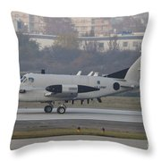 An Rc-12x Guardrail At Wiesbaden U.s Throw Pillow by Timm Ziegenthaler