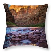 Ancient Shore Throw Pillow by Inge Johnsson