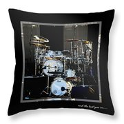 And The Beat Goes On.... Throw Pillow by Holly Kempe