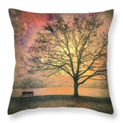 And the Morning is Perfect in all Her Measured Wrinkles Throw Pillow by Tara Turner