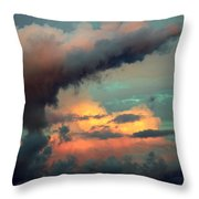 And The Thunder Rolls Throw Pillow by Karen Wiles