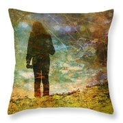 And Then He Turned Her World Upside Down Throw Pillow by Tara Turner