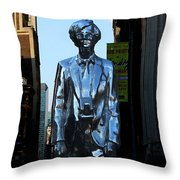 Andy Warhol New York Throw Pillow by Andrew Fare