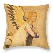 Angel Gabriel  Throw Pillow by Simone Martini