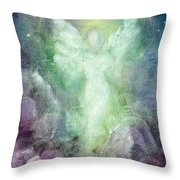 Angels Journey Throw Pillow by Marina Petro