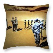 Angels Of The Sand Throw Pillow by Todd Krasovetz
