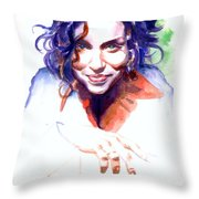 Ani DiFranco Throw Pillow by Ken Meyer jr
